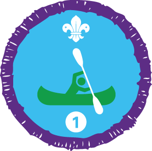 Time on the water staged activity badge.